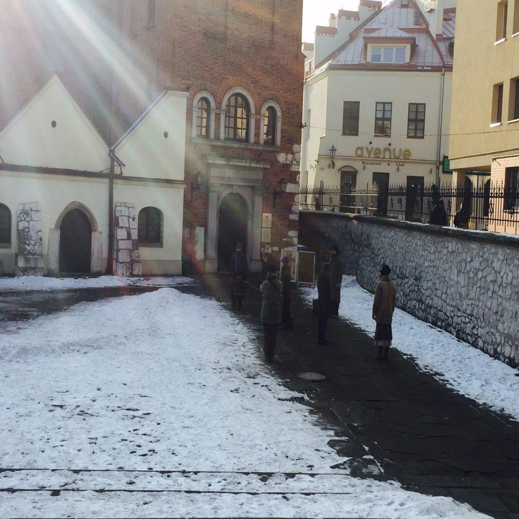 attori di improvvisart - quartiere ebraico di Cracovia
